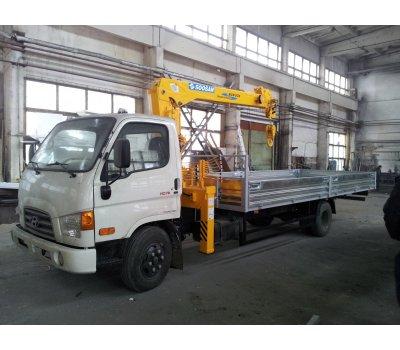 Установка  бортовых платформ на Hyundai