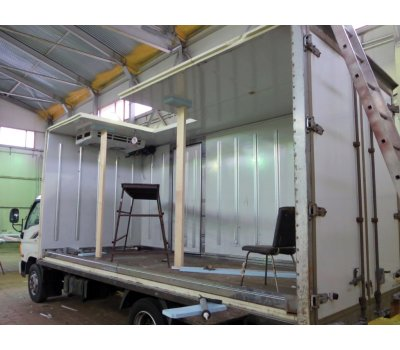 Замена ремонт стенки фургона
